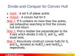 divide and conquer for convex hull