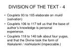 division of the text 4