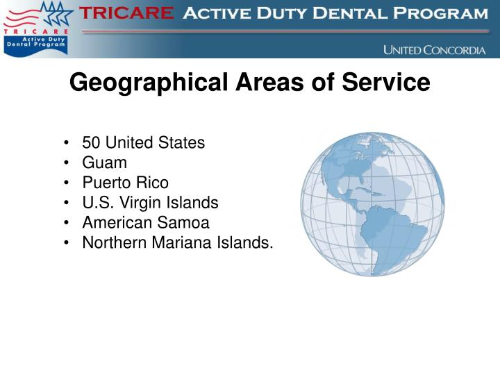 Geographical Areas of Service