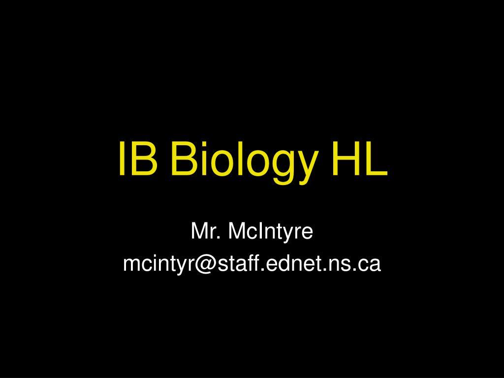 ib biology hl l.