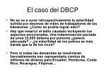 el caso del dbcp36