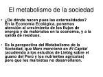 el metabolismo de la sociedad