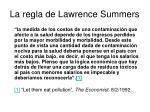 la regla de lawrence summers