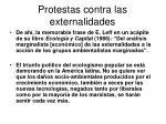 protestas contra las externalidades