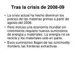 tras la crisis de 2008 09