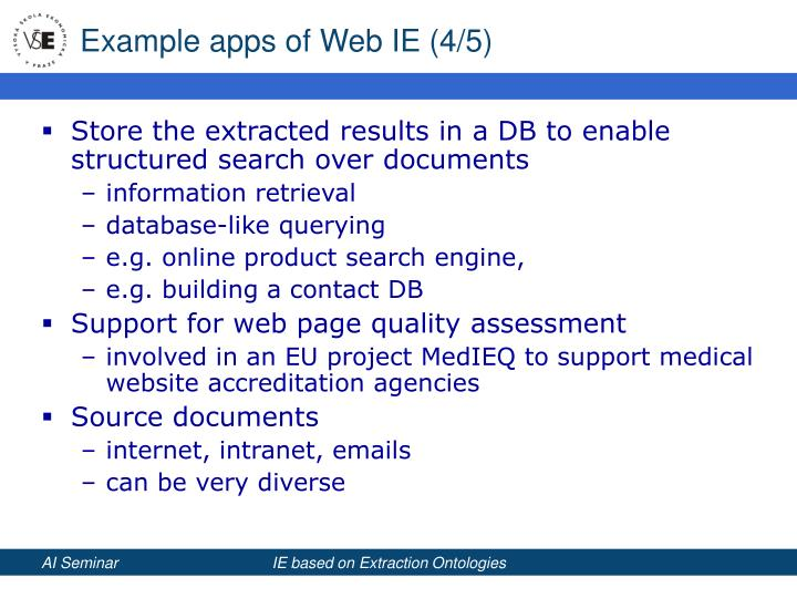 Example apps of Web IE (4/5)