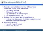example apps of web ie 4 5