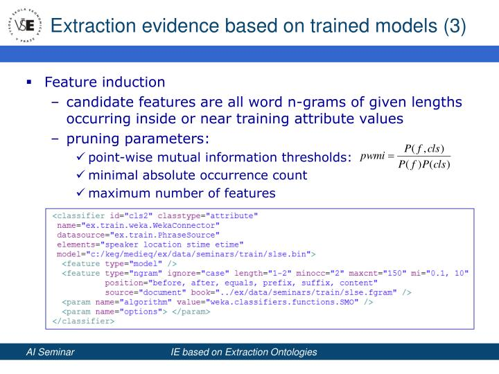 Extraction evidence based on trained models (3)