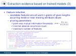 extraction evidence based on trained models 3