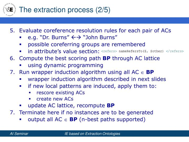 The extraction process (2/5)
