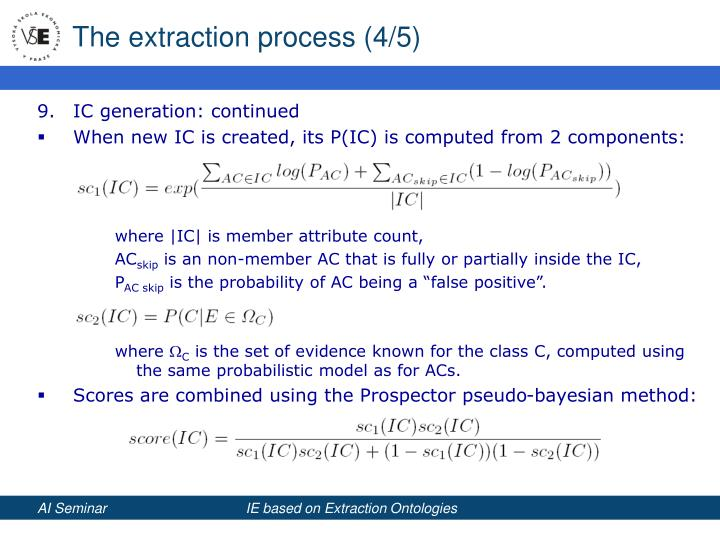The extraction process (4/5)