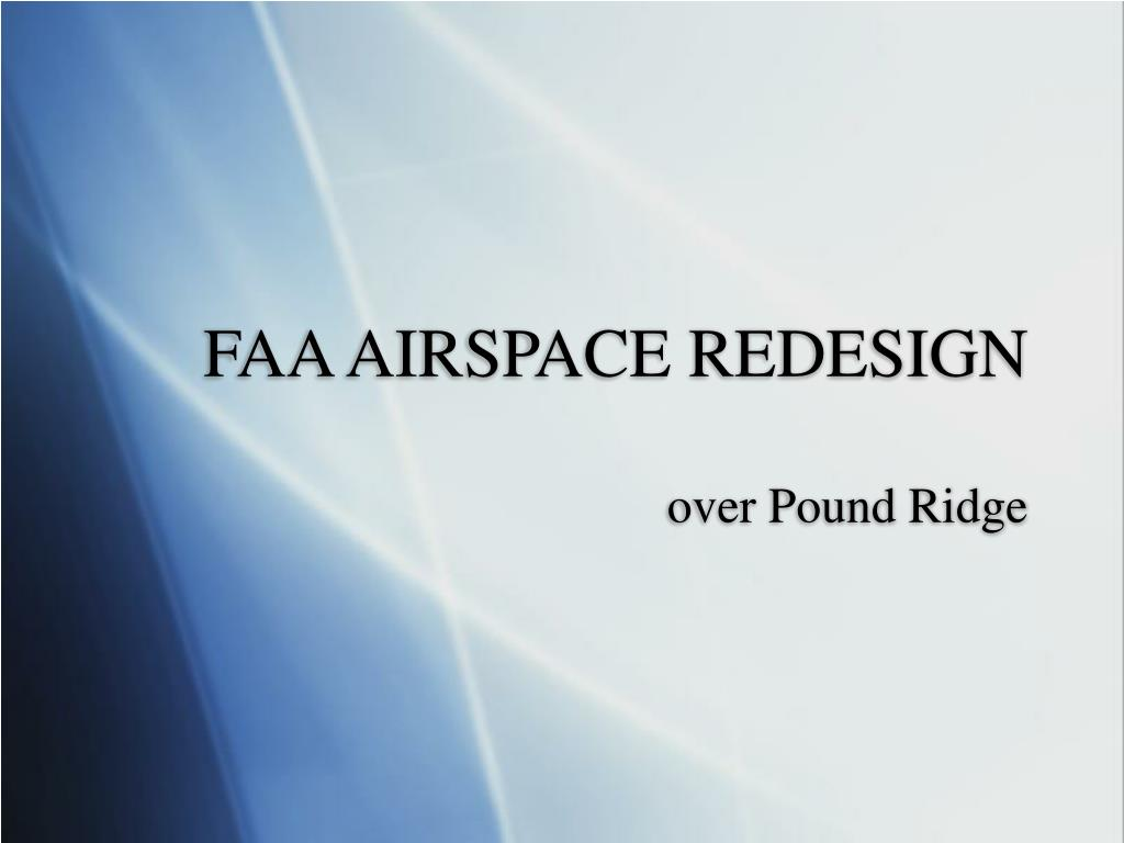 faa airspace redesign l.
