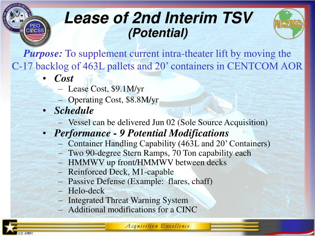 Lease of 2nd Interim TSV