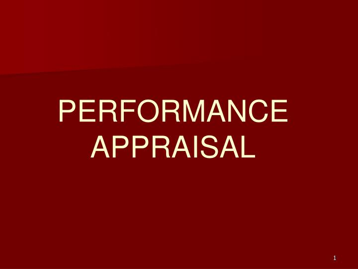 performance appraisal n.