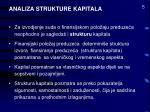 analiza strukture kapitala