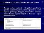 klasifikacija pozicija bilansa stanja70