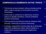 komparacija segmenata aktive i pasive13