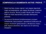 komparacija segmenata aktive i pasive23