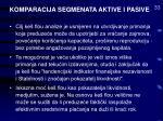 komparacija segmenata aktive i pasive33