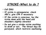 stroke what to do