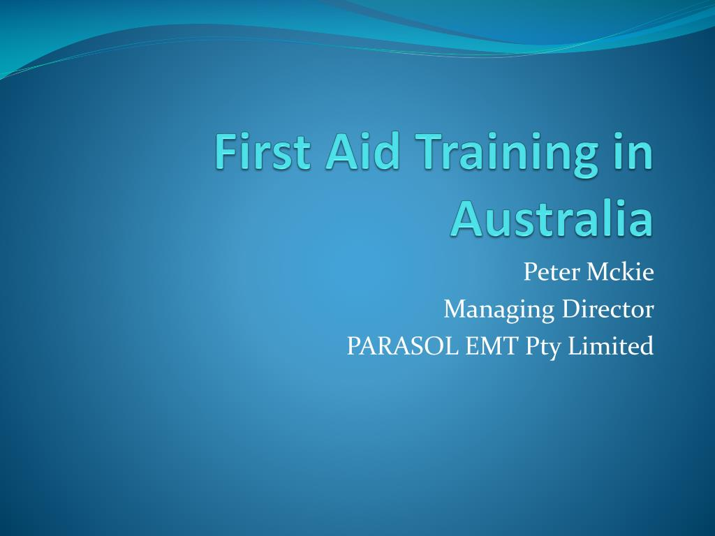 first aid training in australia l.