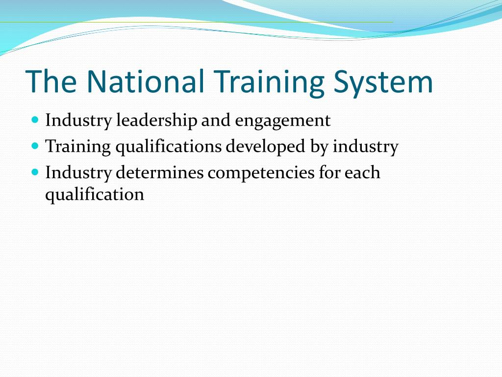 The National Training System