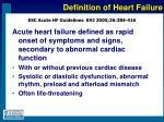 definition of heart failure11