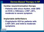device based therapy in hf