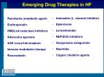 emerging drug therapies in hf