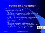 during an emergency