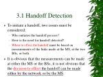 3 1 handoff detection