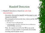 handoff detection