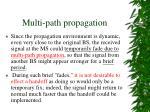 multi path propagation