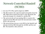 network controlled handoff ncho