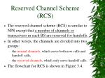 reserved channel scheme rcs