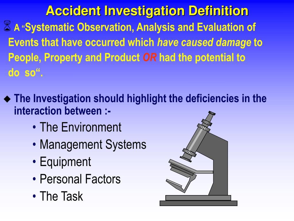 Accident Investigation Definition