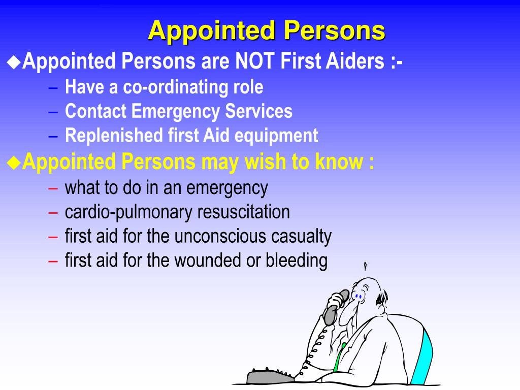 Appointed Persons