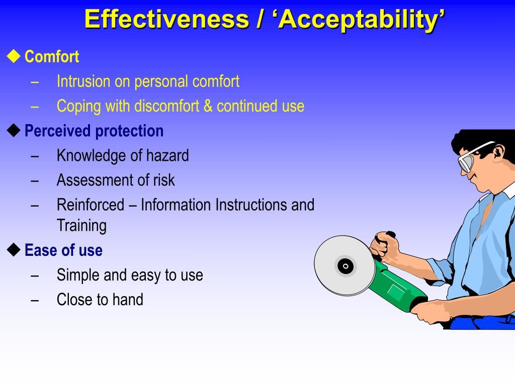 Effectiveness / 'Acceptability'