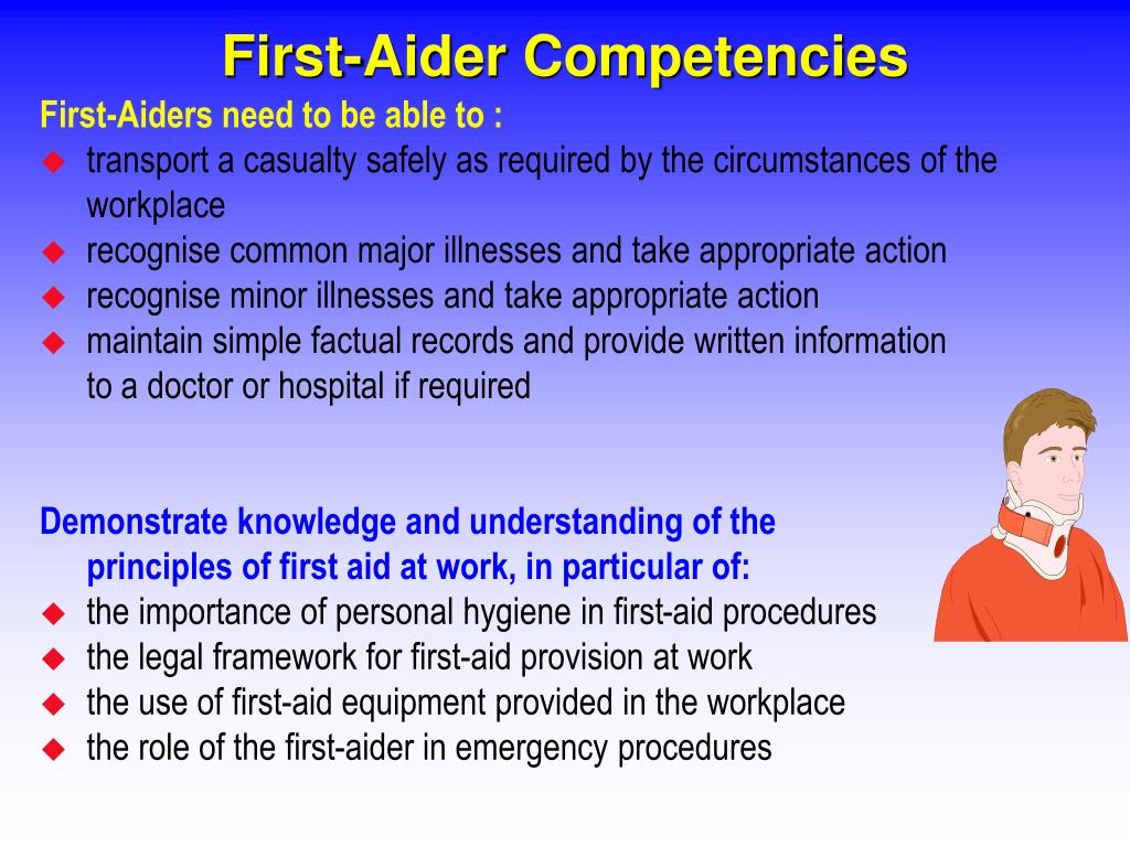 First-Aider Competencies