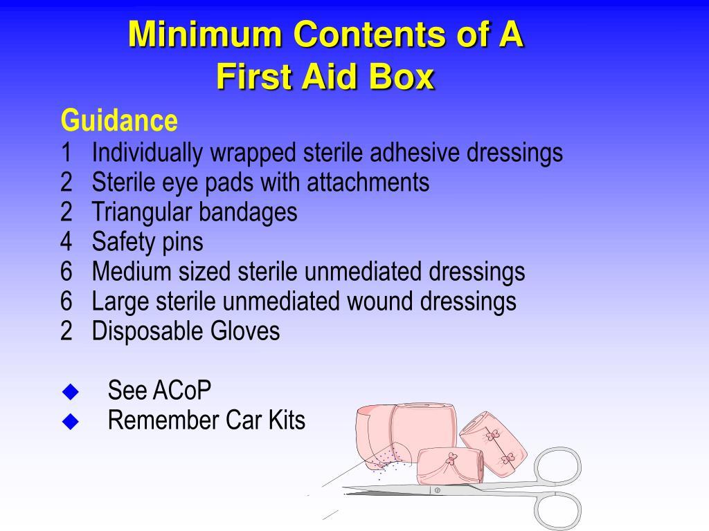 Minimum Contents of A