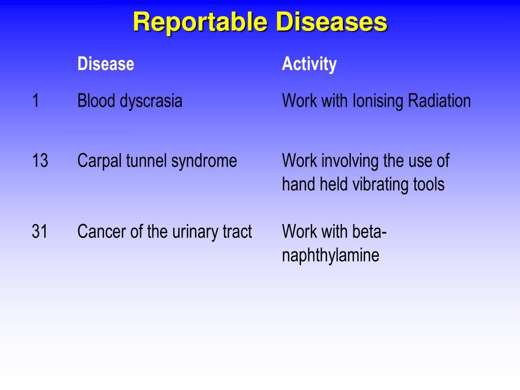 Reportable Diseases