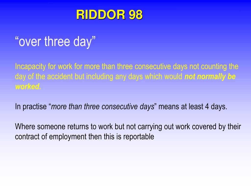 RIDDOR 98