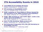 itu accessibility events in 2010