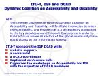 itu t igf and dcad dynamic coalition on accessibility and disability