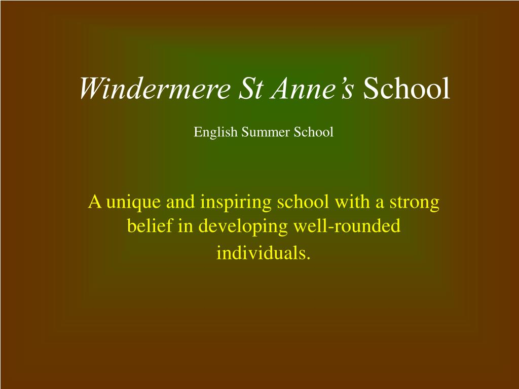 windermere st anne s school english summer school l.