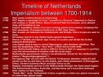 timeline of netherlands imperialism between 1700 1914