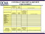 contract receipt review checksheet