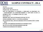 sample contract dla