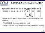 sample contract navicp