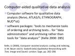 computer aided qualitative data analysis